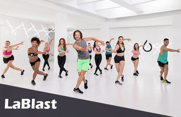 a group dancing lablast with Louis Van Amstel