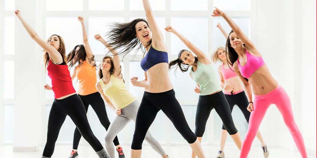 girls dancing zumba